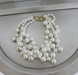 Designer Kenneth Jay Lane Perlenkette Halskette