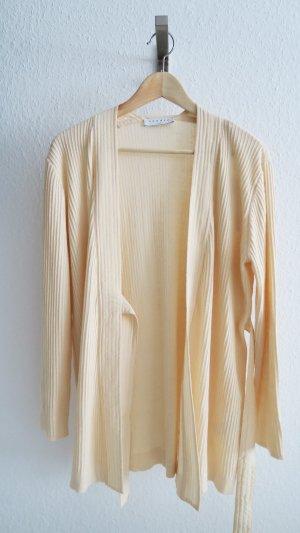 Designer Kimono Cardigan beige etwa 36/38 Seide und Kaschmir