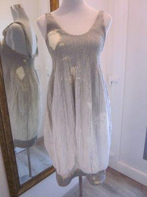 Designer Kleid #Annette Görtz  Gr L grau weiss Batik