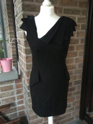 Designer  Kleid - Schwarz -38