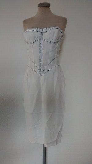Designer Kleid weiß Gai Mattiolo Gr. 36 38 S M Rockabilly retro bandeaukleid