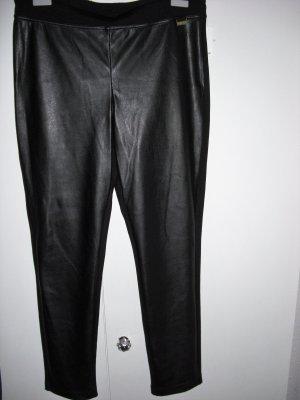 Calvin Klein Leren broek zwart