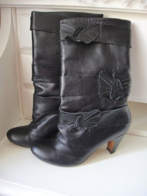 Slouch Boots black leather