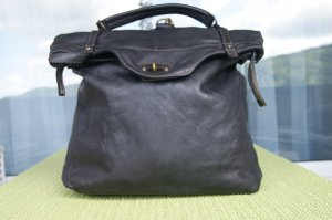 0039 Italy School Backpack black leather