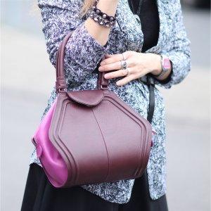 Designer Ledertasche lila/ pink von Gretchen Neu