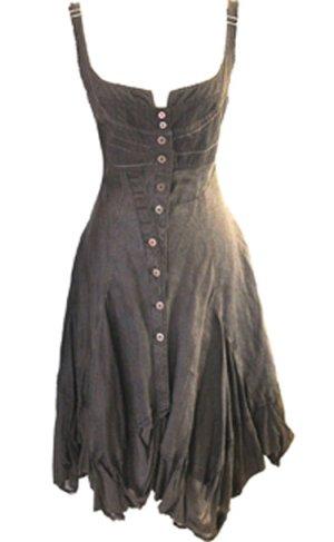 * Designer  Leinen  Kleid  *  Gr.L  *