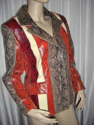 Designer Lifestyle Lederjacke By Alba Moda Fashion Quality Gr 38 NP 398