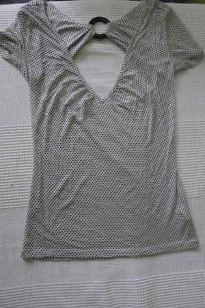 Designer M.Michalsky Top,Oberteil,Gr.XS,raffinierte Details,schwarz-weiß
