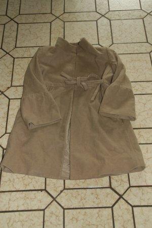 Designer-Mantel mit Schleife zum Binden / Kaschmiranteil