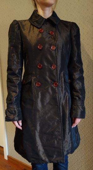 Ungaro Gewatteerde jas bruin-zwart bruin