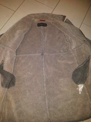 Designer Marken Mantel Jacke BoHo Toscana  Trenchcoat Cinque Limited Edition Neu Leder/ Lammfelllook Pjs € 549