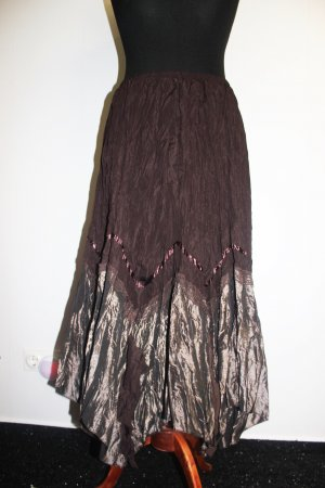 Skirt brown-dark brown polyester