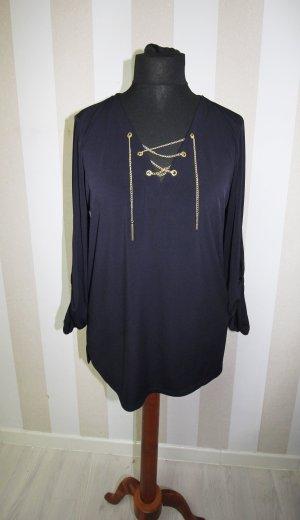 Designer Michael Michael Kors Tunika Shirt Ketten Chain Design Gr L