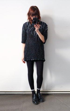designer pailetten shirtdress longshirt glam kleid stickereien
