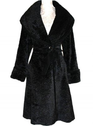 Blumarine Abrigo negro Viscosa