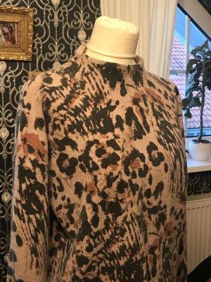 Designer Pullover Gr. 38 Luxus in Leooptik