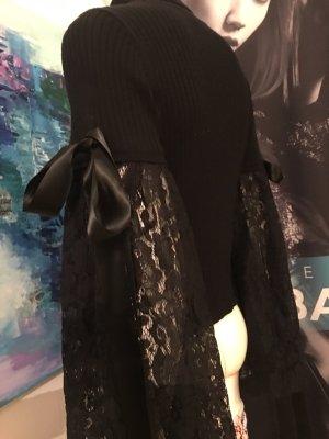 Designer Pullover von Asos sehr aufwändig Bohemian stil boudoir schwarz Small Luxus