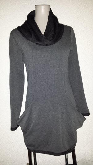 Sweater Dress black-dark grey