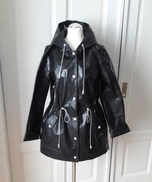 Raincoat black-white mixture fibre