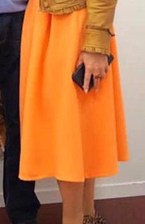Jupe tulipe orange clair