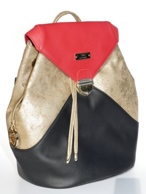 Backpack multicolored imitation leather