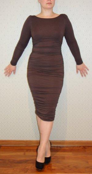 Designer Rückenfrei-Kleid von Ungaro Fuchsia Gr. 34