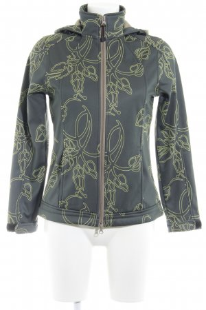 003a9152c8de4c DESIGNER S Softshell Jacket khaki-lime yellow abstract pattern casual look