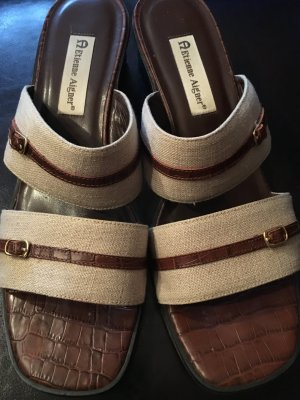 Etienne Aigner High-Heeled Toe-Post Sandals brown-oatmeal