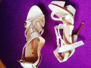 0039 Italy High-Heeled Sandals white-gold-colored
