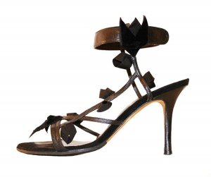 Beverly Feldman High Heel Sandal black leather