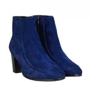 di Lauro Booties blue leather