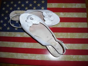 Comfort Sandals white leather