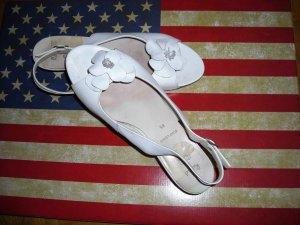 Sandales confort blanc cuir