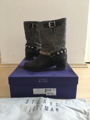 Stuart weitzman Korte laarzen zwart-zilver