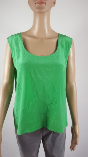 Empire Waist Shirt green silk