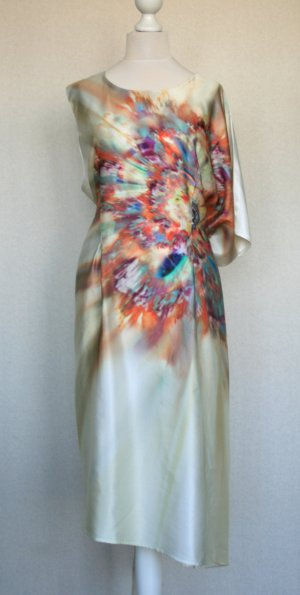 Midi Dress multicolored silk