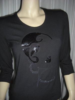 Designer Shirt von MARGITTES  neuwertig  36 38 schwarz  Np 99