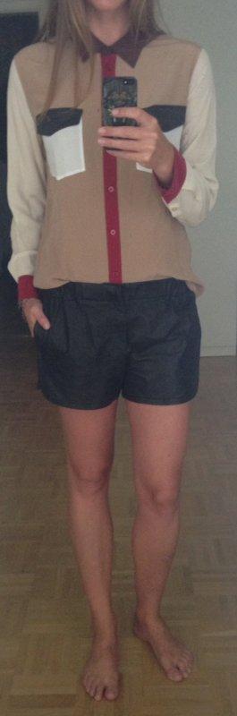 Designer Shorts aus Leder von Thakoon Addition, Gr. 36, Schwarz
