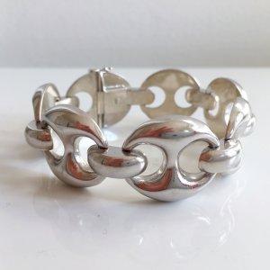 Designer Silberarmband Big Chain XL Armband 835 Silber Bohnen Vintage 70er 80er Modernist Blogger