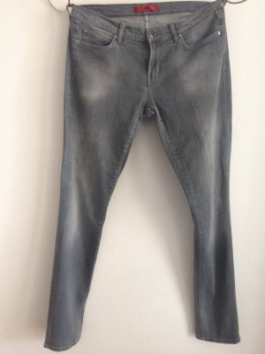 Designer Skinny Jeans, hellgrau, Gr. 30/34