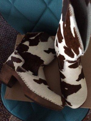 Designer Stiefel Sanita Original Dänisch Glogs neu Kuhfellstyl OVP NP 389 Euro