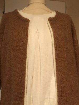 Manteau en tricot marron clair tissu mixte