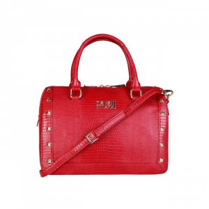 Cavalli Carry Bag red imitation leather