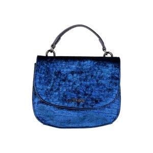 Sac Baril bleu-bleu foncé faux cuir