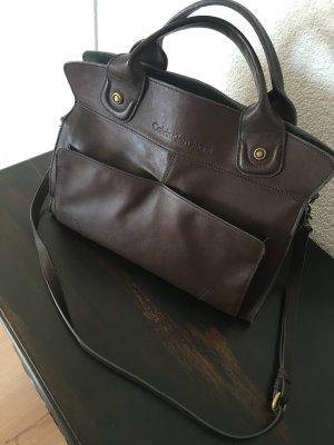 Designer Tasche - Calvin Klein - echt Leder - Büro Tasche