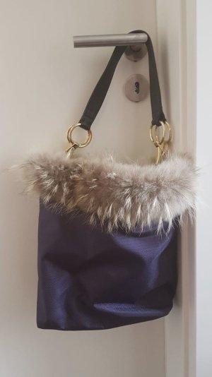 Designer Tasche mit echtem Nerz Besatz
