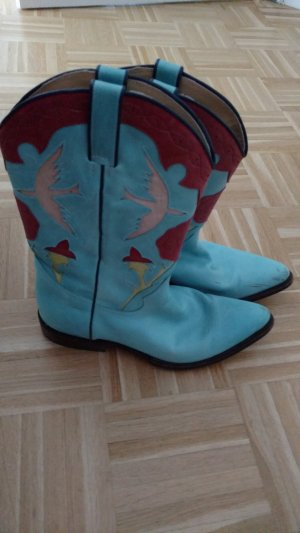 Tony Mora Western Boots multicolored leather