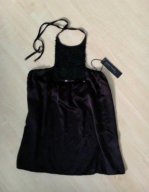 Mary Jane Haut en soie noir