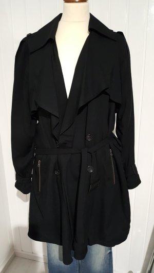 Designer-Trenchcoat aus Dänemark Schwarz