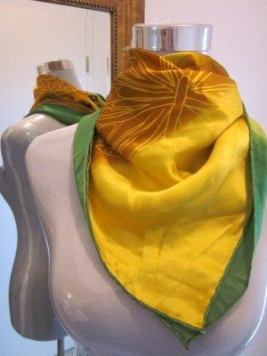 Designer Tuch Charlotte Sparre 100% Seide Gelb Grün Schmetterling